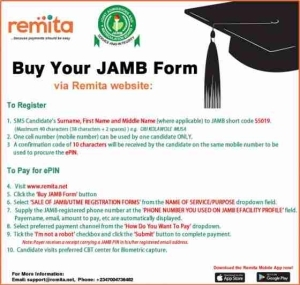 Candidates Can Now Buy 2018 JAMB PIN Via Remita. See How